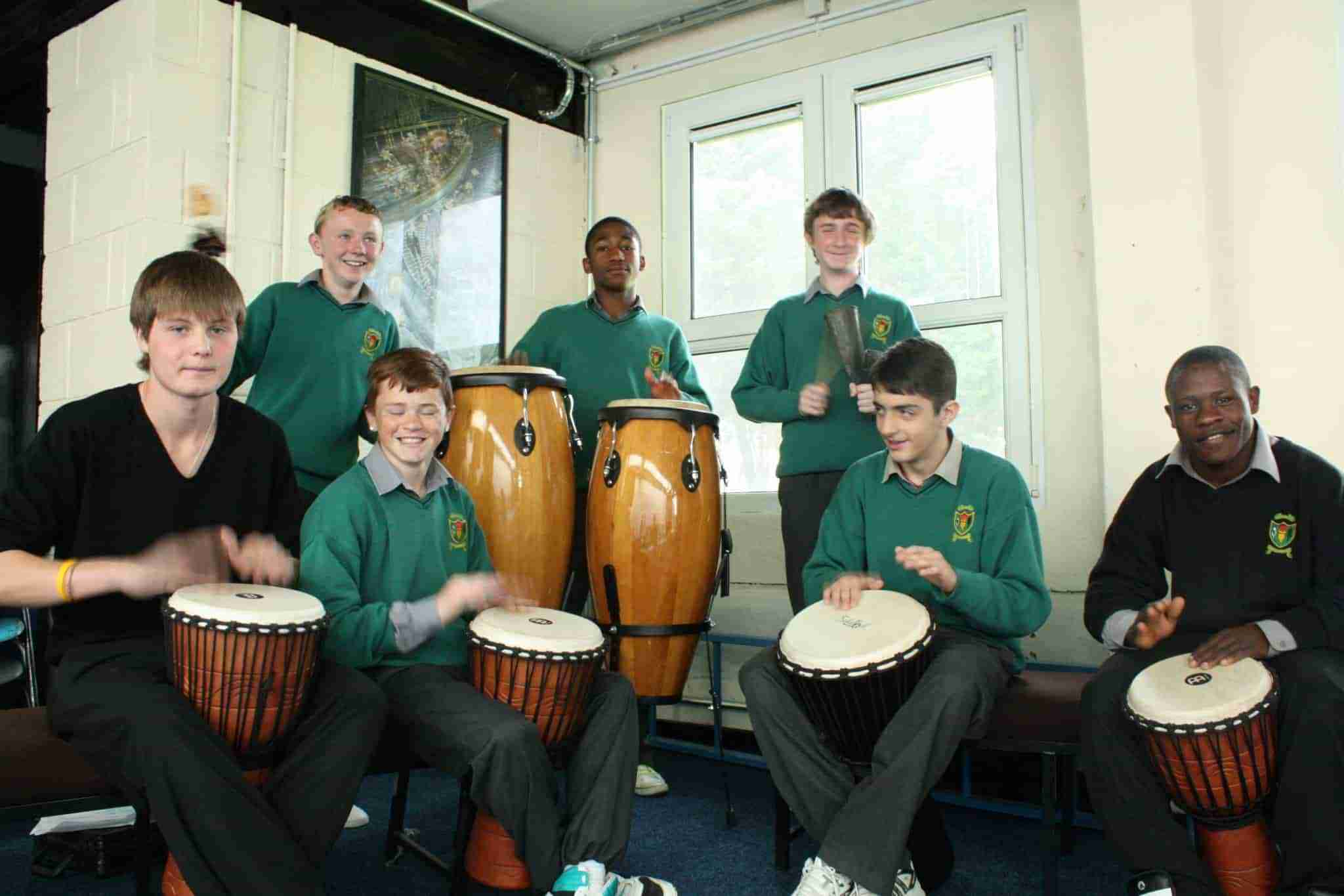 Music class at Saint Aidans Community School
